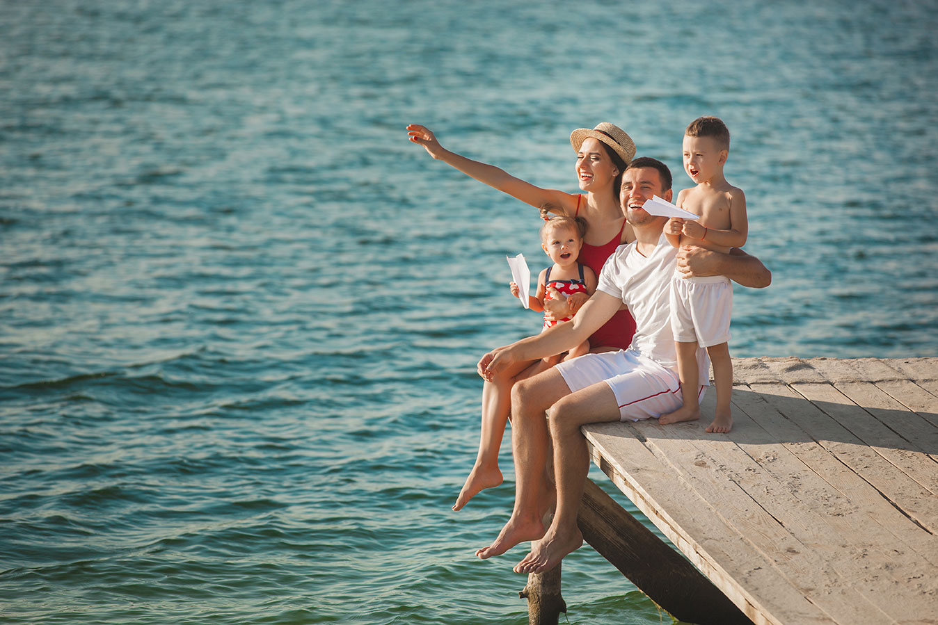 Fort Myers Family on a dock
