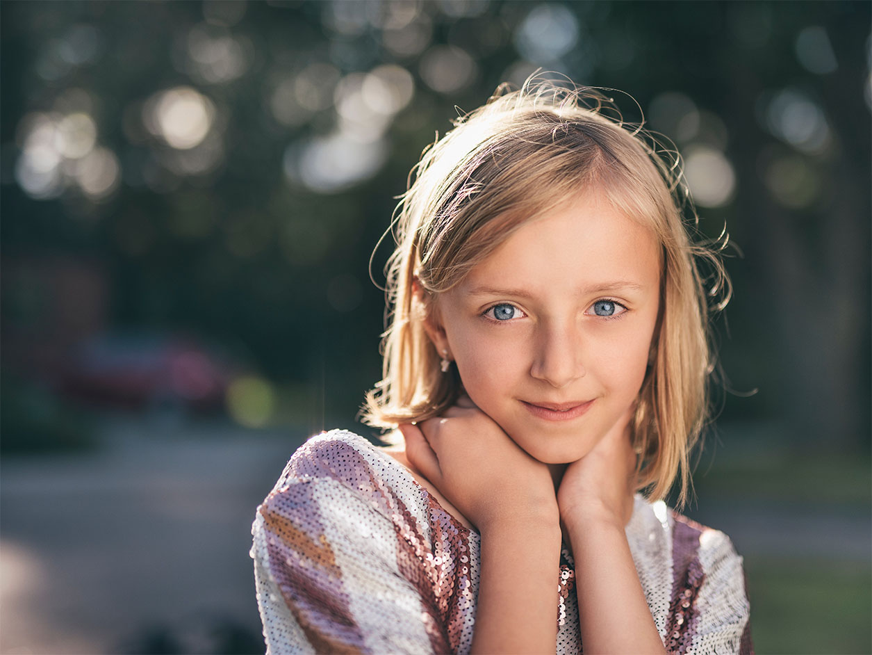 Image of a young girl smiling